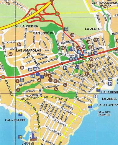 Map Of Spain Costa Blanca.La Zenia Map
